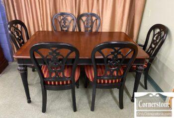 5966-1162 - Universal Tbl 1 Leaf 6 Chairs