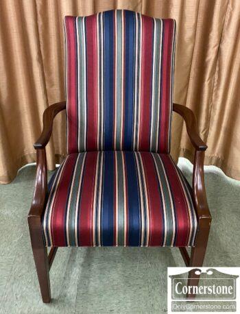 5966-1188 - Martha Washington Striped Arm Chair