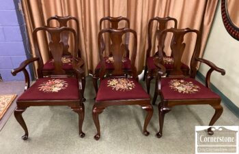 Set of 6 Henkel Harris Mahogany Queen Anne Chairs