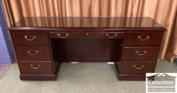 5966-1234 - Cherry Office Credenza Desk