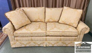 5966-1247 - Calico Corners Yellow Damask Sofa