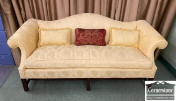 5966-1254 - Chipp Yellow Camelback Sofa