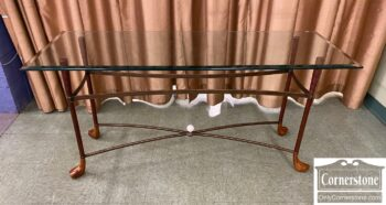 5966-1262 - Glass Top Sofa Wall Table Golf Club Legs