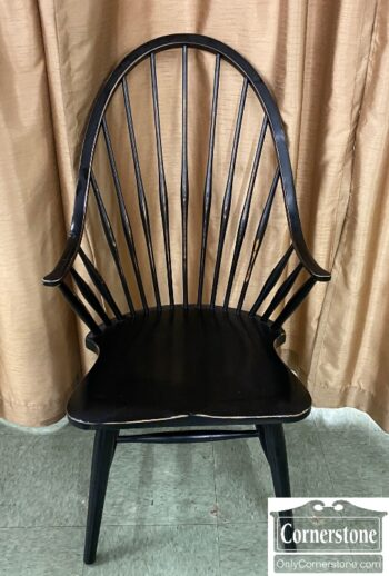 5966-1292 - Black Windsor Arm Chair