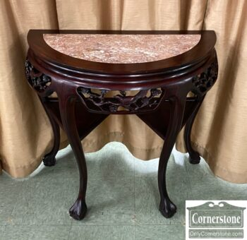 5966-1321 - Asian Demilune Console Marble Ins