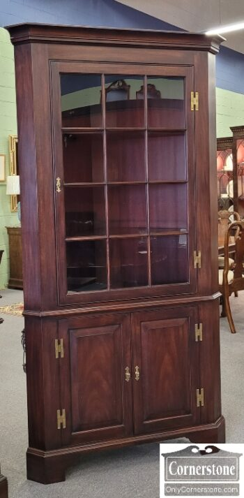5966-1327 - HH Sol Mah 12 Pane Corner Cabinet
