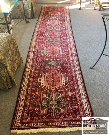 5966-1328 - Wool Hand Knotted Persian Runner