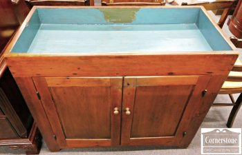 5966-136 Antique American Pine Dry Sink