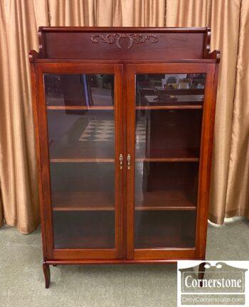 5966-1393 - Mah 2 Door Bookcase