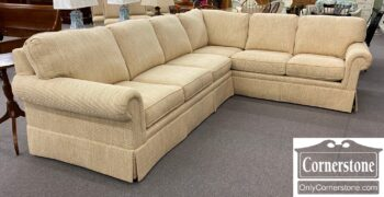5966-1404 - Sherrill Off White Sectional Sofa