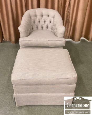 5966-1408 - Occasional Chair w Ottoman