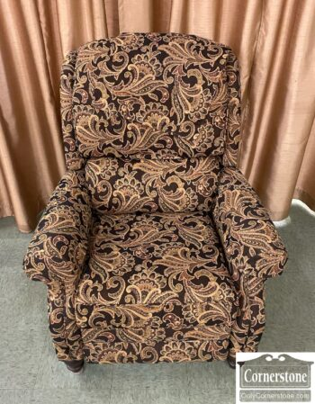 5966-1433 - Smith Bros Recliner Brown Rust Print