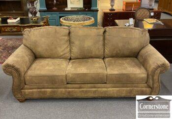 5966-1468 - Microfiber Light Brown Sofa