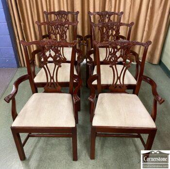 5966-1515 - 6 Hickory Chair Mah Chipp Arm Chrs