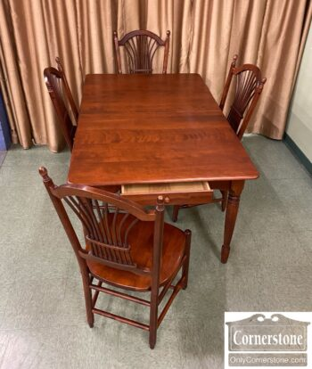 5966-1555 - Nichols and Stone Table 1 Lf 4 Chairs