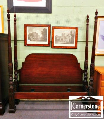 5966-173-solid-mahogany-chippendale-queen-poster-bed