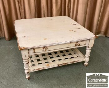 5966-1731 - Pine Paint Distressed Coffee Table