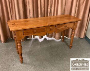 5966-1766-EA Pine 3 Drawer Wall Table