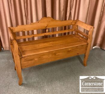 5966-1768-Pine Storage Bench