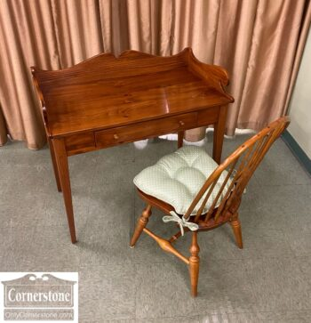 5966-1769-EA Pine Desk and Windsor Chair