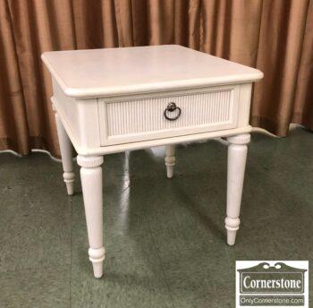 5966-1790-Drexel Heritage White End Table