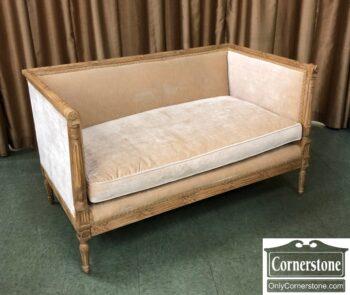 5966-1794-Italian Settee End of Bed Bench Velvet