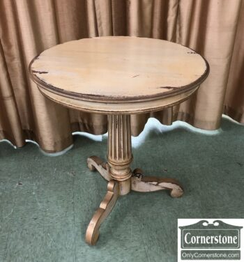 5966-1795-Round Occasional Table Painted Finish