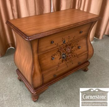5966-1841- Sm Paint Decorated Bombe Chest