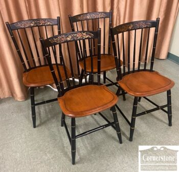 5966-1844-4 Hitchcock Stenciled Side Chairs