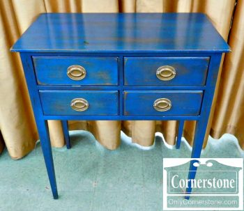 5966-229 Painted Blue Console Server on Legs