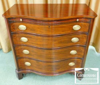 5966-252 Potthast Hepplewhite Mahogany Serpentine Chest (2)