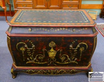 5966-262 - French Style Painted Bombe Chest
