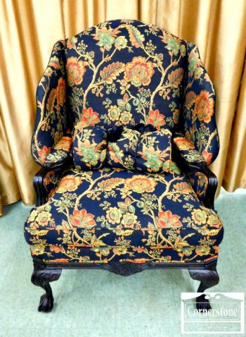 5966-263 - Key City Chippendale Large Wing Chair