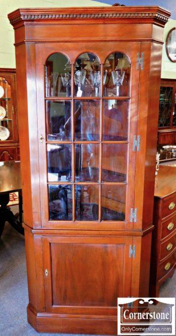 5966-31 Norris Solid Mahogany Corner Cabinet