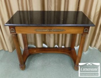 5966-320 - Mixed Wood French Empire Marbletop Console with One Drawer