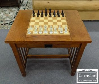 5966-331 - Oak Mission Style Games Table