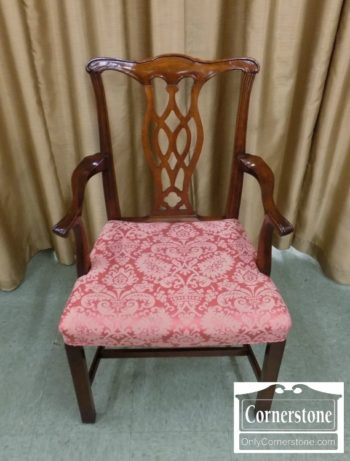 5966-358 - Chippendale Style Arm Chair in Mahogany Finish