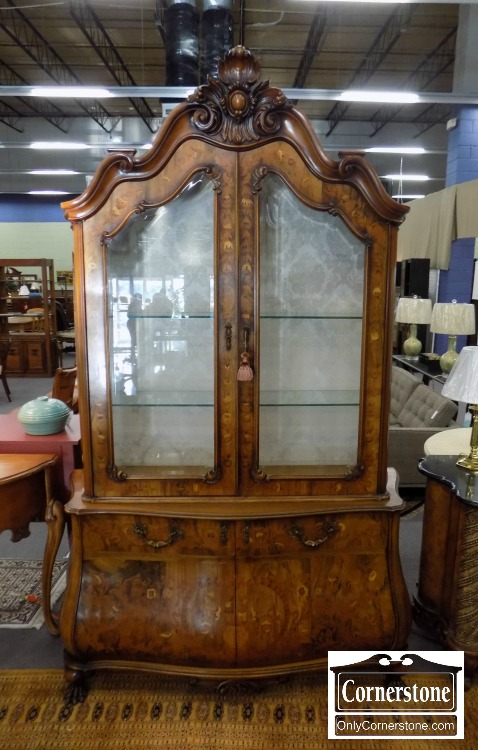 Dutch Style Marquetry Curio / China / Display Cabinet | Baltimore, Maryland Furniture  Store U2013 Cornerstone