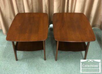 5966-446 - Pair of Hwd Wkfld MCM End Tables