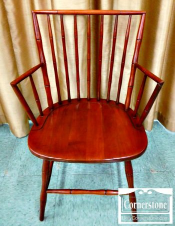 5966-45 Set of 4 Cherry Bamboo Windsor Chairs - 2 Sides and 2 Arms-1