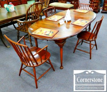 5966-45 Set of 4 Cherry Bamboo Windsor Chairs - 2 Sides and 2 Arms-2