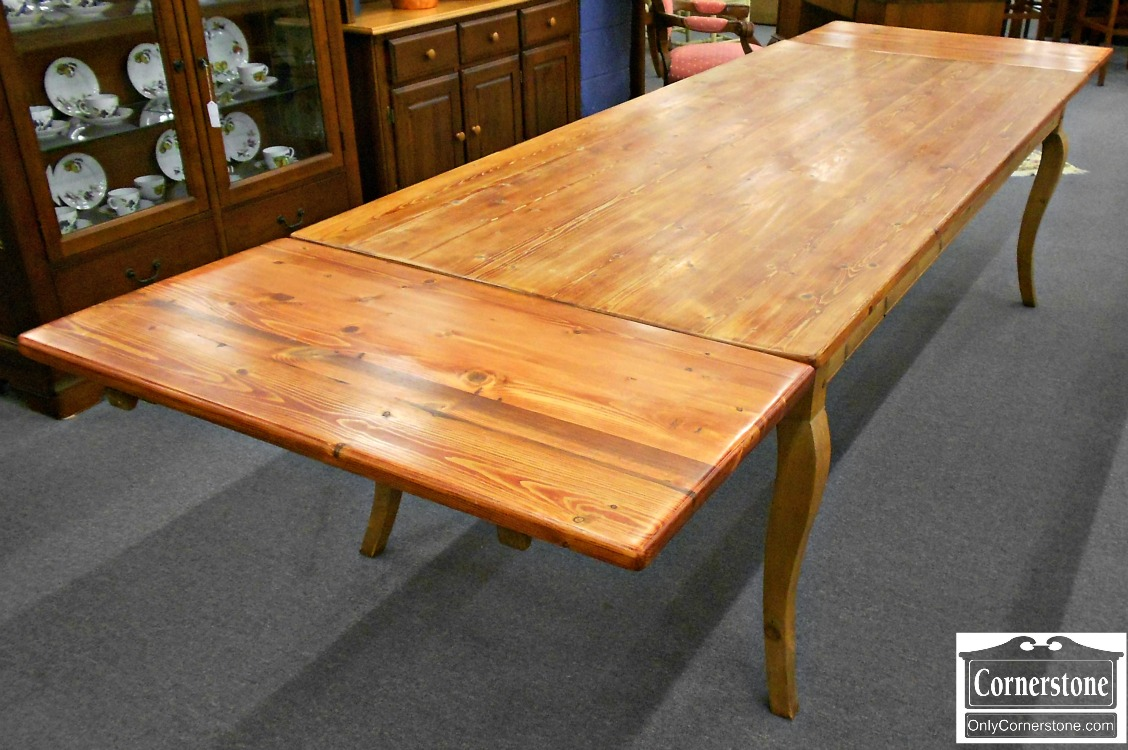 5966-5 Rustic French Country Pine Farm Table