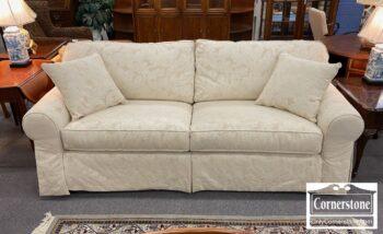5966-529 - Ethan Allen White Sofa