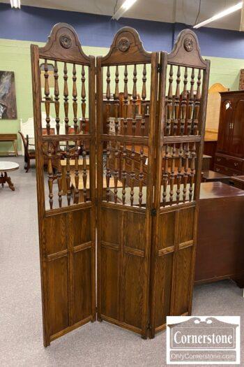 5966-656 - Oak Screen Room Divider