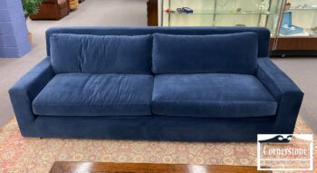 5966-675 - Rest Hardware Cont Blue Parisian Sofa
