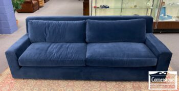 5966-676 - Rest Hardware Cont Blue Parisian Sofa