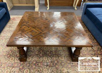 5966-678 - Oak Contem Rustic Sq Coffee Table