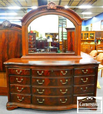 5966-68 Thomasville Mahogany Dresser with Mirror