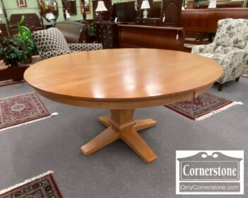 5966-707 - Maple Contemporary Round Pedestal Table