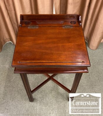 5966-716 - Small Desk on Stand Cherry Finish